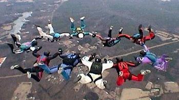 skydive teambuilding